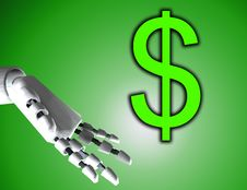 Free Robo Hand And Dollar 3 Stock Photo - 4194170