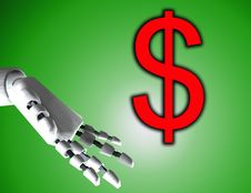 Free Robo Hand And Dollar 5 Royalty Free Stock Photo - 4194175