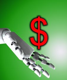 Free Robo Hand And Dollar 6 Stock Photo - 4194190