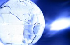 Free Blue Glass Globe Royalty Free Stock Photo - 4194385