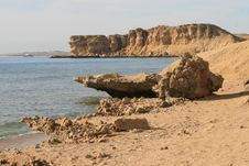 An Egyptian Coast. Royalty Free Stock Images