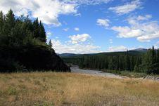Free Alpine Valley, Elbow River, Kananaskis Provincial Royalty Free Stock Image - 4195056