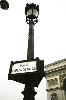 Free French Lamppost Royalty Free Stock Photography - 4195187