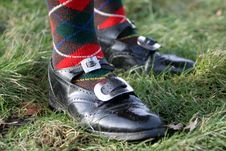 Free Scottish Pipers Shoes Stock Photography - 4195372