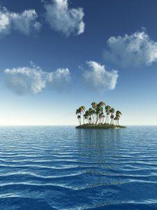 Free Palm Island Stock Image - 4195591
