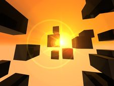 Free Abstract Into The Sun Stock Photography - 4195832
