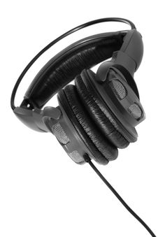 Isolated Headphones Royalty Free Stock Images