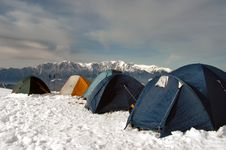 Free Tents In The Wind (Carpathian) Stock Photo - 4196810