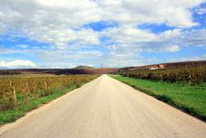 Straight Ahead Road Line Royalty Free Stock Images