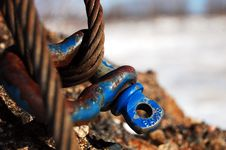 Cable And Shackle Stock Photo