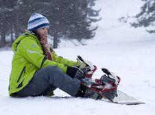 Free Beautiful Snowboarder Girl Royalty Free Stock Photo - 4197885