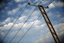 Free Voltage Lines In The Sky Stock Photo - 4198250
