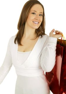 Going Home With Shopping Bag Stock Photo