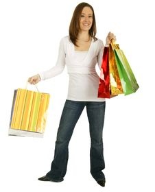 Free Shopping Girl 2 Stock Photo - 4198900