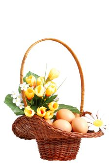 Free Easter Basket Royalty Free Stock Photos - 4199268