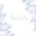Free Blue Lotus Blank Design Stock Photos - 41930283