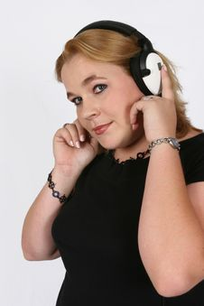 Businesswoman Listening To Her Favorite Music Royalty Free Stock Image