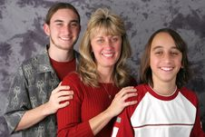Free Mom & Sons Portrait 1 Stock Images - 421484