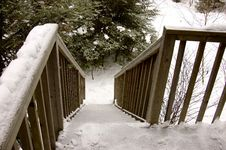 Free Winter Stairs Royalty Free Stock Photo - 423185