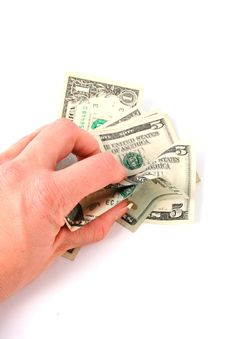 Free Hand Grabbing Money Royalty Free Stock Image - 424416