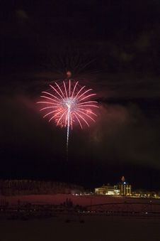 Free Red Fireworks Stock Photo - 425030