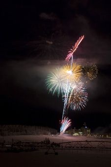 Free Fireworks Above The Field Stock Photos - 425033