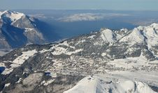 Free Alps Ski Resort Royalty Free Stock Image - 425176