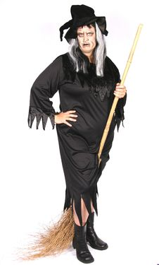 Woman Dressed As An Ugly Witch Stock Photos