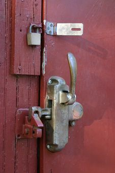 Door Latch Stock Photo