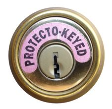 Free Protecto-Keyed Lock Royalty Free Stock Photos - 427618