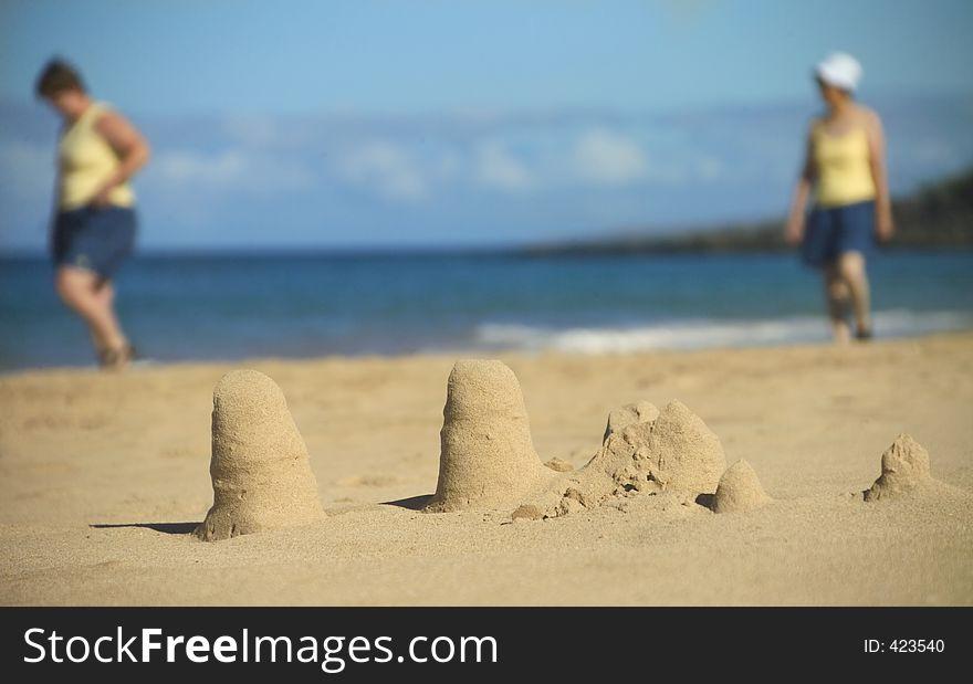 Abandoned sand castles