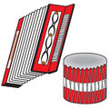 Free Red Accordion & Drum Royalty Free Stock Photo - 4201015