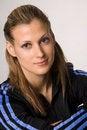 Free Sportive Beautiful Woman On Whte Stock Image - 4205991