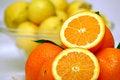 Free Slices Of Orange With Lemon Stock Photo - 4206480