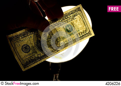 Free Watermark 100 Usd Royalty Free Stock Image - 4206226
