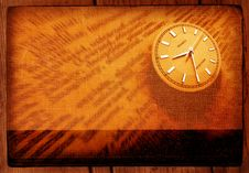 Free Dictionary With Clock Stock Image - 4200031