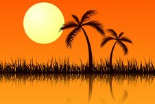 Tropic Sunset Stock Image