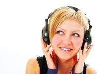 Free Woman In Head Phones Royalty Free Stock Photography - 4200417