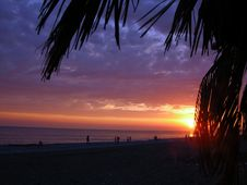 Sundown Sun Royalty Free Stock Photos