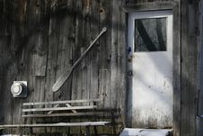 Free White Door Of The Shed Royalty Free Stock Photos - 4201108