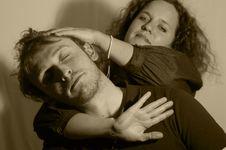 Free Love, Head Massage Stock Photo - 4201590