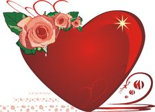 Free Roses. Drops. Heart. Valentines Day Stock Image - 4202731