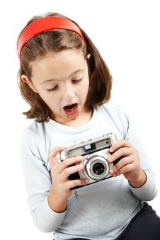 Free Young Girl Looking Surprised A Camera Royalty Free Stock Images - 4202779