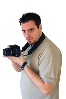 Free Young Man With Digital Camera, Photographer Stock Photo - 4202800