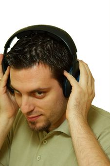 Free Man With Headphones Royalty Free Stock Photos - 4202818