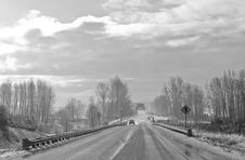 Free Winter Weather Highway Stock Photography - 4203142