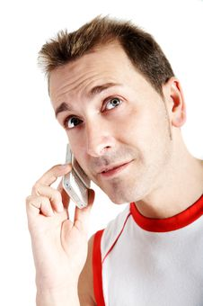 Free Casual Man Talking With A Cellphone Royalty Free Stock Image - 4203196