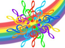Music And Rainbow Royalty Free Stock Photo