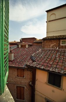 Free Roof From The Window Royalty Free Stock Image - 4203686