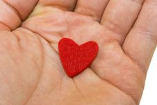 Free Red Heart On Hand Stock Image - 4203861